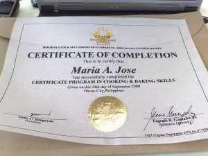 CACS Davao Certificate of Completion