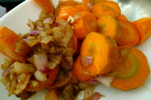 Browned Onions and Carrots