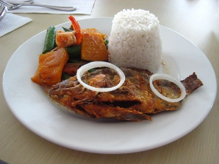 Pinakbet and Fried Tilapia