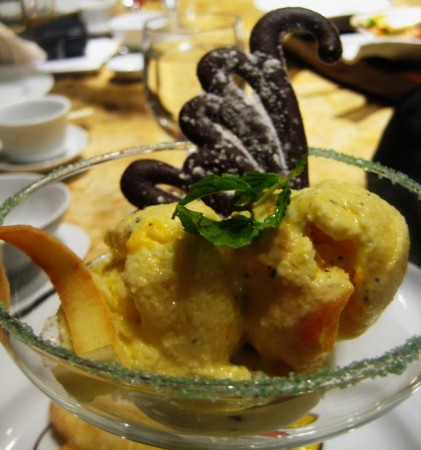 Mabuhay Palace Golden Egg Ice Cream in Marco Polo Hotel Davao