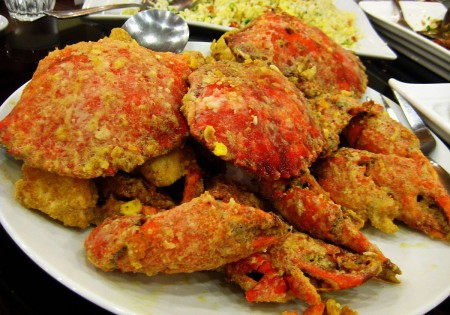 Salted Egg Crabs by Emperor's Palace Chinese Seafood Restaurant in Davao