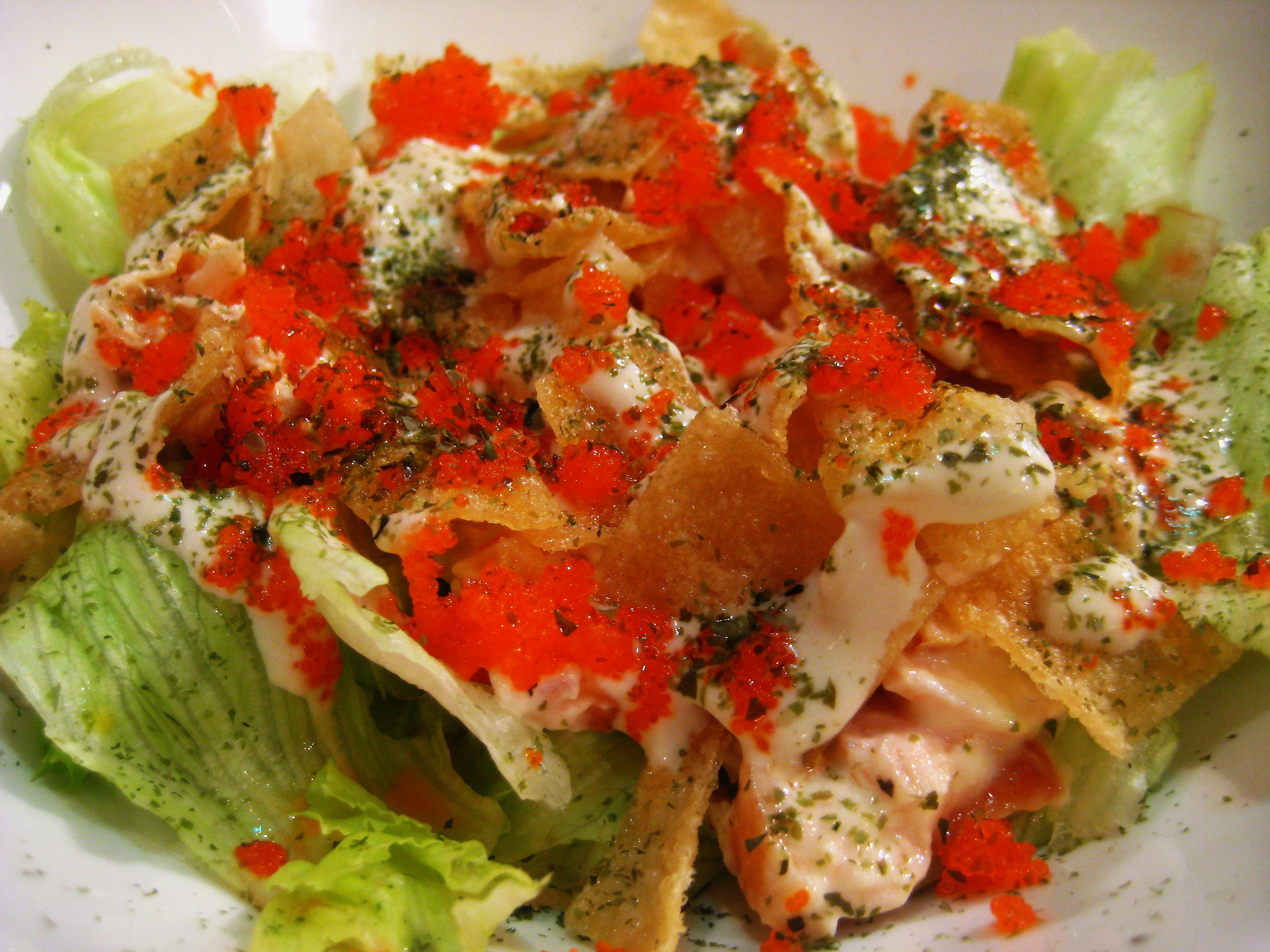 Teriyaki Boy's Crunchy Salmon Salad Japanese Food