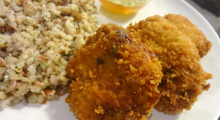 Thai Fish Cakes with Cilantro Brown Rice