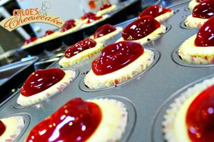 Strawberry Cheesecake Bites by Chloe's Cheesecakes