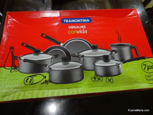 Tramontina Versalhes 7 piece Cookware Set from Lazada in box