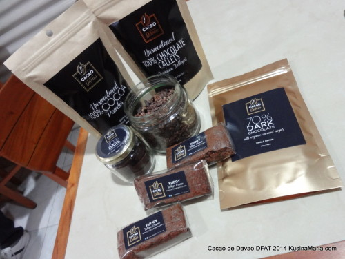 Cacao de Davao Products