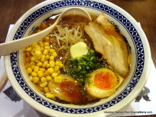 Miso Butter Corn Ramen with Ajitamago by Ukokkei Ramen Ron