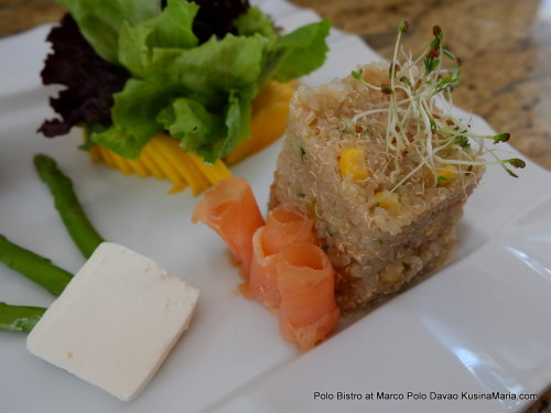 Quinoa Salad with Smoked Salmon and Green Asparagus by Polo Bistro at Marco Polo Davao