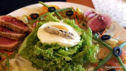 Seared Tuna Nicoise Salad by Chef Chino San Jose of Chez Nous